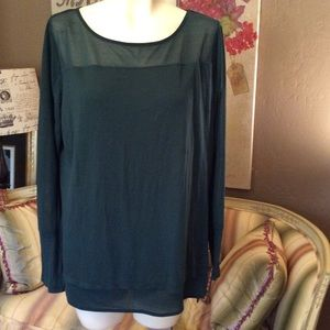 Trouve Green Tunic Blouse Large